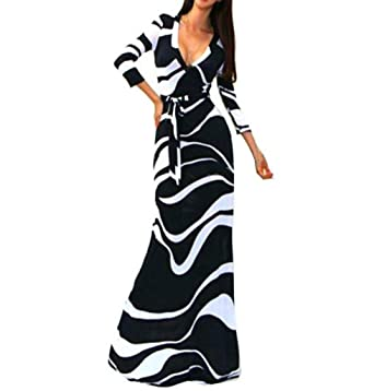 3bee0c2696 Amazon.com  Leewos Clearance! Sexy V Neck Maxi Dress