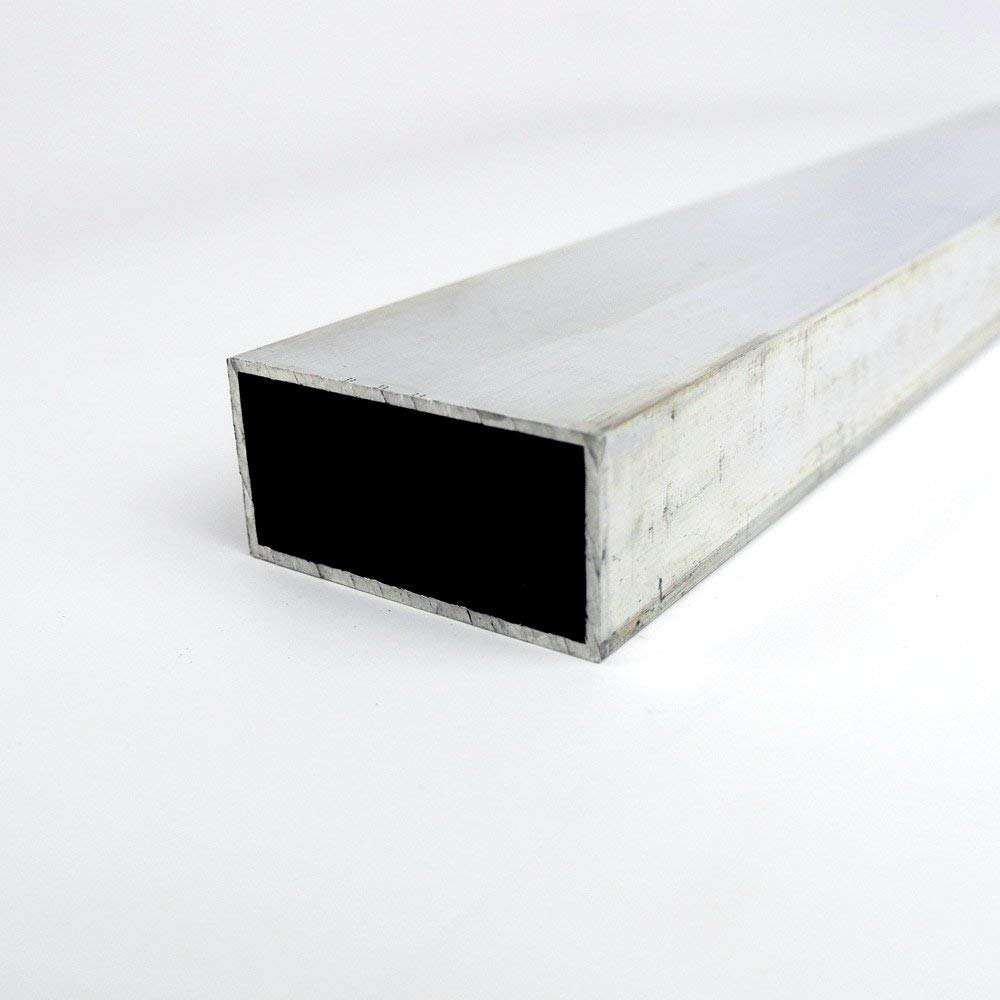 T6 Temper OnlineMetals AMS-QQ-A 200//8 6061 Aluminum Rectangular Tubing Finish 24 Length Unpolished Mill ASTM B-221 0.125 Wall Thickness Extruded 3 Width 1 Height