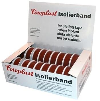 Isolierband Coroplast Box VDE Isoband Klebeband Elektriker Band Braun