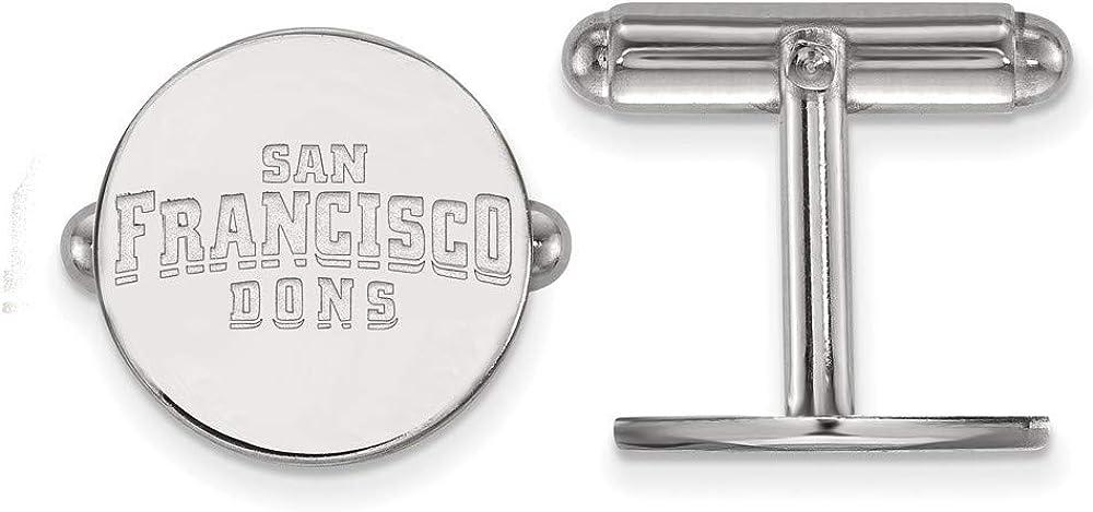 Roy Rose Jewelry Sterling Silver LogoArt University of San Francisco Cuff Links