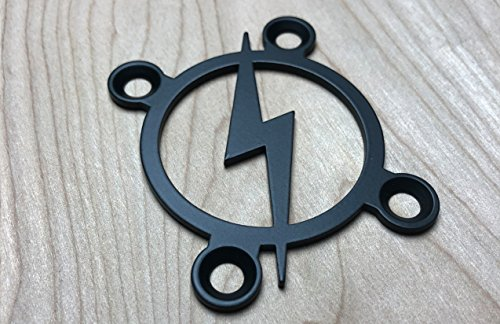 Retro Bolt! Neck Plate for your Custom Guitar or Bass - Industrial Black