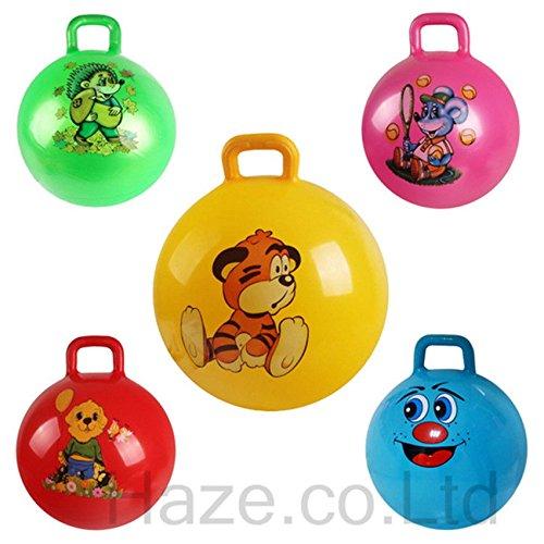 UNAKIM--Hopper Bouncing Ball Bounce Hopping Jumping Kids Fun Toys Handle 17.5