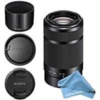 Sony E-Mount 55-210mm F 4.5-6.3 Lens for Sony E-Mount Cameras Bundle