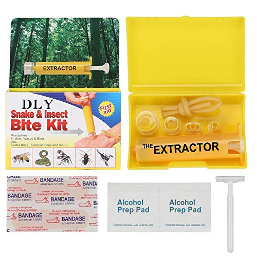 Snake Bite Kit, Bee Sting Kit, Emergency First Aid Supplies, Venom Extractor Suction Pump, Bite and Sting First Aid for Hiking, Backpacking and Camping