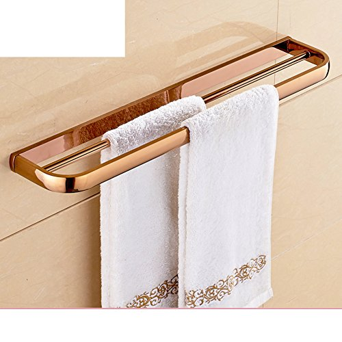 70%OFF Brass towel bars-bathroom/Bathroom towels hanging in Europe and America/chrome-plated double Towel rack-A