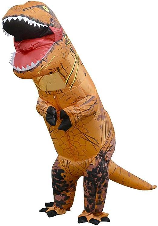 Prettygood7 - Disfraz de dinosaurio hinchable T Rex niños, traje ...