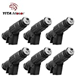 #8: YITAMOTOR 6pcs Fuel Injectors for 1999-2004 Jeep Wrangler Tj/Cherokee Xj/Grand Cherokee Wj 4.0L Ram 1500/Ram 2500 Van/Ram 3500 Van 5.2L Fuel Injector 4 Hole Flow Matched with EV6 USCAR 0280155784