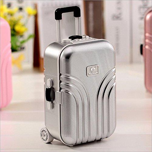 【超特価】 Mini旅行荷物スーツケース音楽ボックスderorativeストレージ多機能Oragnizer シルバー withメイクアップミラー シルバー シルバー B077WGV5S9 B077WGV5S9 シルバー, ブックセンター多可:b3160a28 --- arcego.dominiotemporario.com