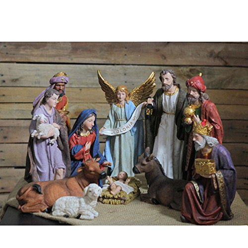Northlight QR01728 Christmas Nativity Figure Set with Colored Accents by Northlight (Image #3)