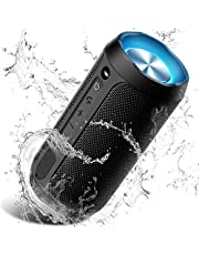 Wireless Bluetooth Lautsprecher Tragbare, Verbesserter IP67 Wasserschutz, 24 Watt Wireless 360° Sound Kabelloser Lautsprecher mit eingebautem Mikrofon, für iOS, Android, TV
