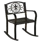 Outdoor Patio Metal Rocking Chair Porch Garden Seat Deck Backyard Glider Rocker New #224