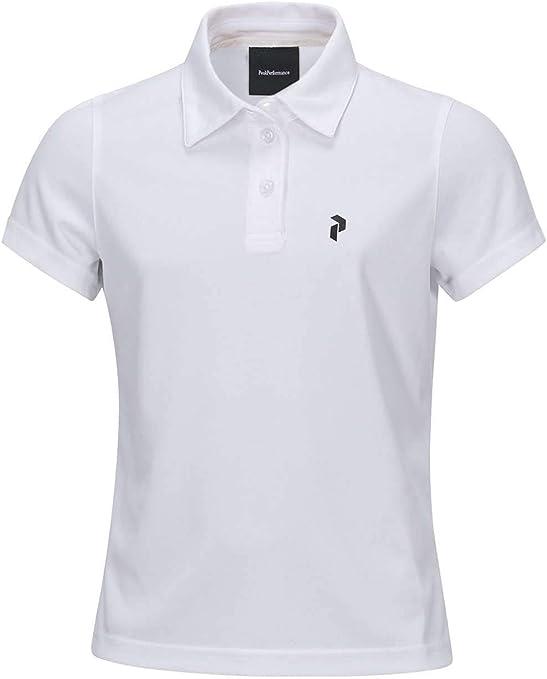 PEAK PERFORMANCE Kids Golf elsham Polo White 140: Amazon.es ...