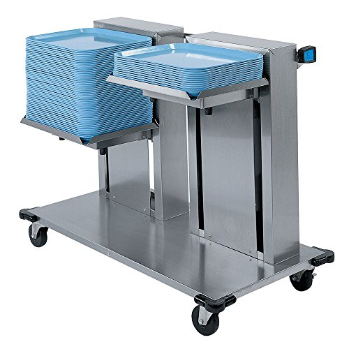 Lakeside 2819 - Mobile Cantilever Tray Dispenser, Double Platform, 47