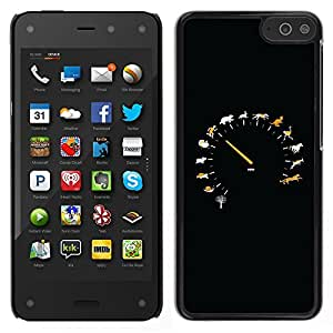 LECELL--Funda protectora / Cubierta / Piel For Amazon Fire Phone -- Animal velocidad Velocímetro --