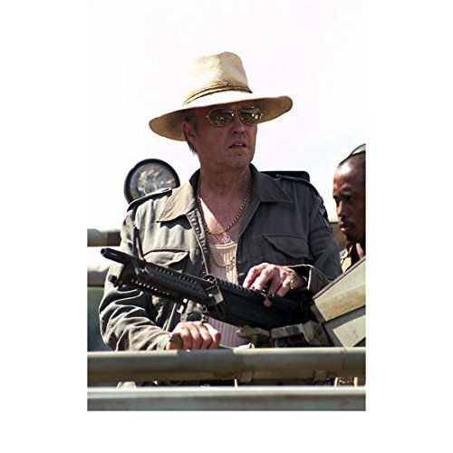 The Rundown Christopher Walken as Hatcher in Hat and Sunglasses Holding Large Rifle 8 x 10 inch - Sunglasses Faster