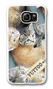 Samsung S6 Case,VUTTOO Cover With Photo: Kittens For Samsung Galaxy S6 - PC White Hard Case