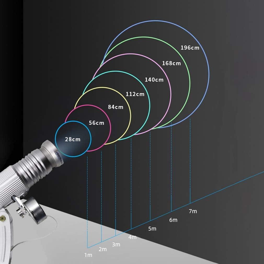 WUZHENG 15W LED GOBO-Projektor-Licht Gobos Logo-Projektor-Lampe F/ür Company Store Hotel Bar Hochzeit Zeichen Werbung,Silber