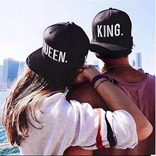Ajustable Béisbol Queen Hip y Hombre De Hop Moda Minetom Snapback Casual Bordado Chic Gorra y Mujer King Blanco1 Sombrero OxTqSBf