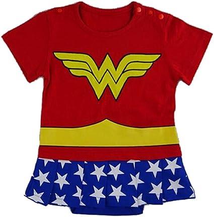 Disfraz de Wonder Woman para bebé rojo, amarillo, blanco, azul ...