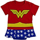 Vestito infantile di ispirazione Wonder Woman. 0-6 Mesi