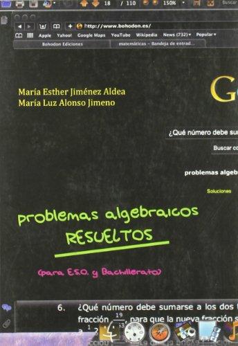 Descargar Libro Problemas Algebraicos Resueltos Maria Esther Jimenez Aldea