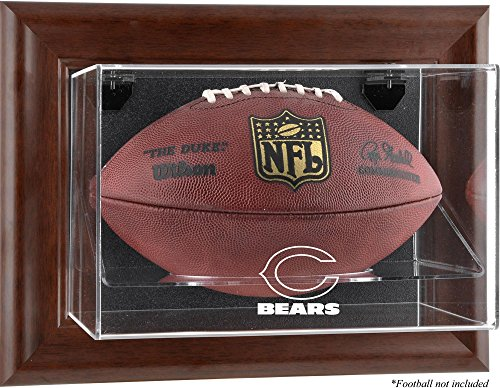 Mounted Memories Chicago Bears Brown Football Display Case - Chicago Bears One Size ()