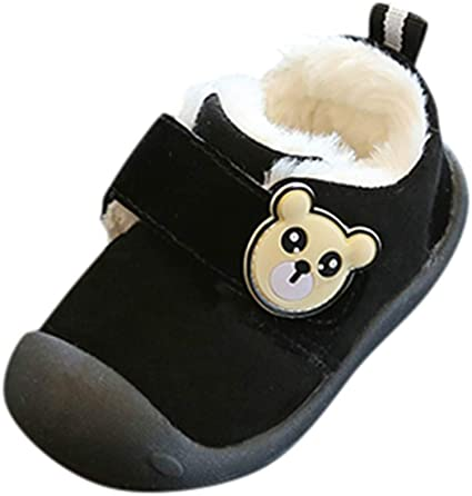 Kids Boy Girls Winter Snow Shoes Cute Warm Athletic Causal Outdoor Cotton Shoes