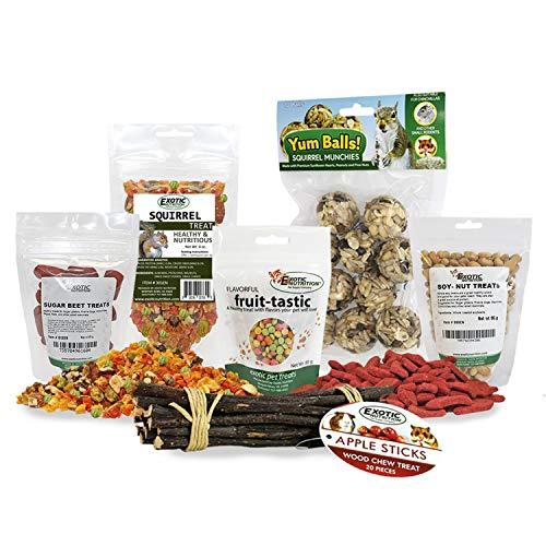 Exotic Nutrition Squirrel Treat Bundle - Healthy & Unique Treat - Flying Squirrel, Ground Squirrel, Grey Squirrel - Medium Flying Squirrel