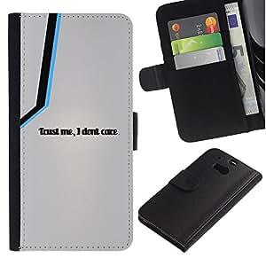 Protector de cuero de la PU de la cubierta del estilo de la carpeta del tirón BY RAYDREAMMM - HTC One M8 - Fidati di Me Cura I Don