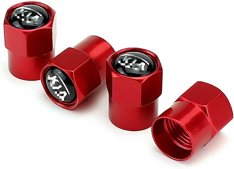 Accessories EVPRO Tire Valve Stem Caps 4 Pack Red Fit for KI A