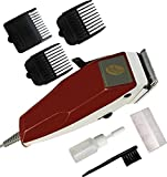 CHARTBUSTERS Professional Corded Electric Hair Trimmer for Men (Maroon)