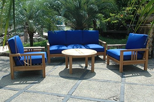 Anderson Teak SET-255 - No Cushion South Bay Deep Seating Collection - Anderson Collections Set