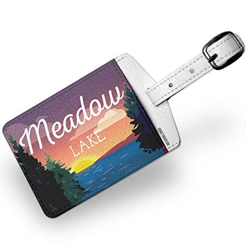 Luggage Tag Lake retro design Meadow Lake - NEONBLOND