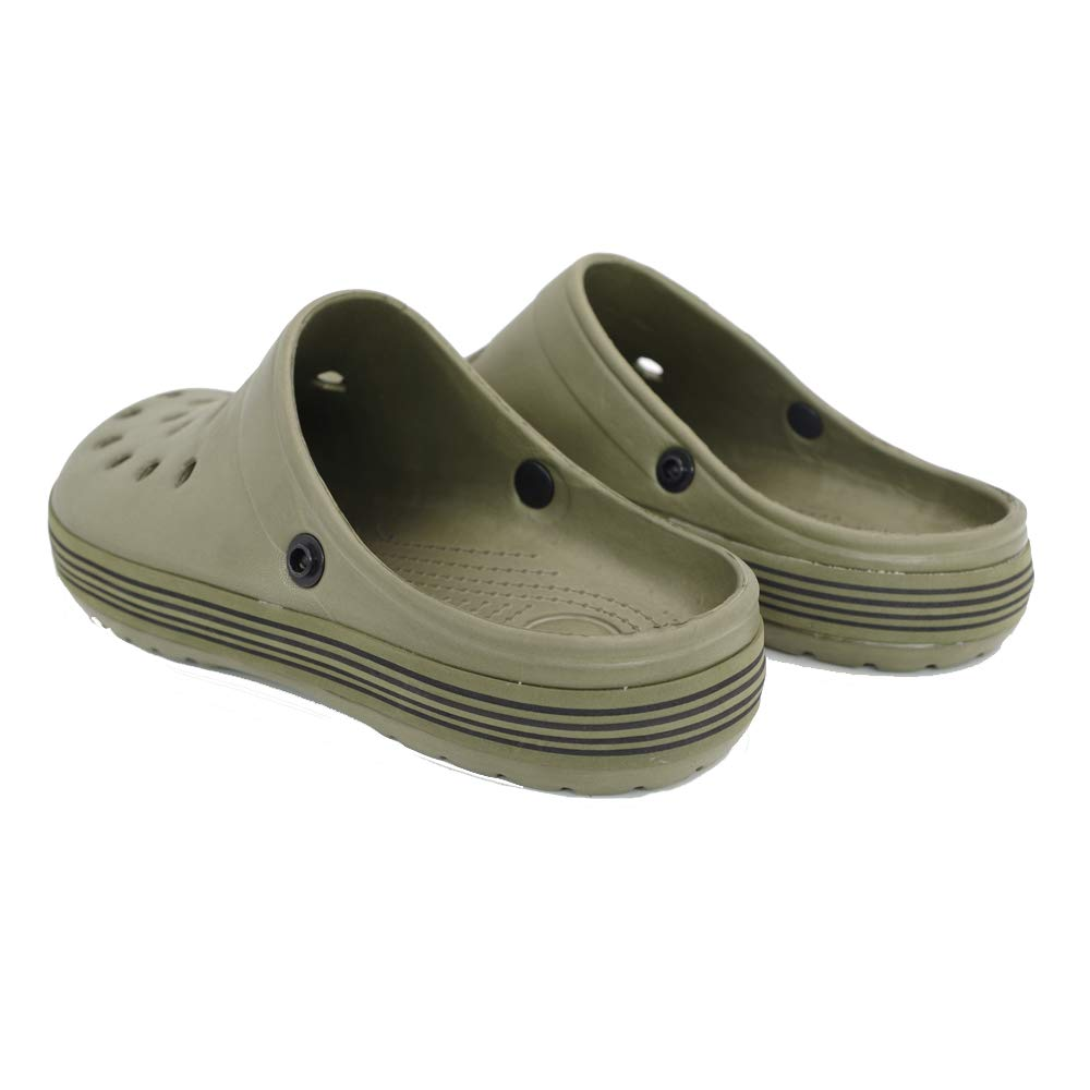 Funcok Mens Garden Clogs Shoes Removable Fleece Lining Sandals Outdoor House Slippers