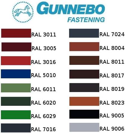 Chromoxidgr/ün RAL 6020 Trapezblech Schrauben Dach Schrauben GUNNEBO 4.8x28 f/ür Trapezblech 250 St/ück Bohrschrauben selbstbohrende Farmerschrauber verschiedene Farben