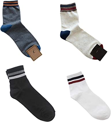 Aniwon 4 Pares Calcetines Para Hombre Moda Medias De Algodón Calcetines De Tripulación Calcetines De Invierno: Amazon.es: Ropa y accesorios
