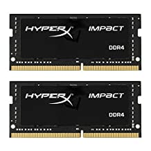 HyperX HX421S13IB2K2/16 Impact Black 16GB Kit of 2 (2x8GB) 2133MHz DDR4 Non-ECC CL13 260-pin Unbuffered SODIMM Internal Memory Black