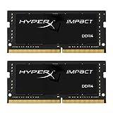 Kingston Technology HyperX Impact 32GB 2666MHz DDR4 CL15 260-Pin SODIMM Laptop Memory, Kit of 2 (HX426S15IB2K2/32)