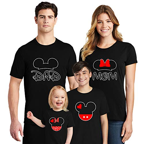 (Natural Underwear Family Trip #9 Mickey Mouse Minnie Mouse Ears Mom Dad Couple Shirts Magic Kingdom Family Vacation 2019 Women Men Youth Kids Cotton Crew Neck T Shirts Black Youth Girls Medium)