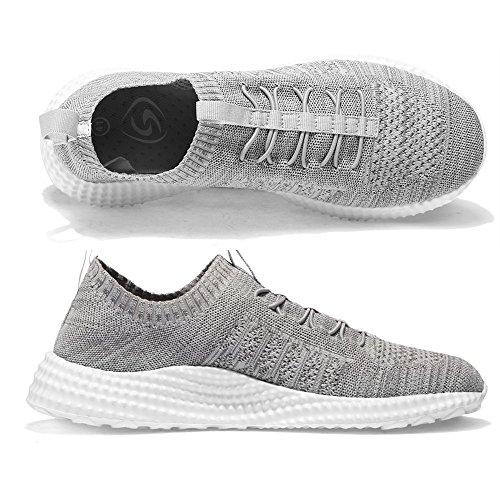 SITAILE Homme Chaussures de Course Sports Fitness Gym athlétique Baskets Sneakers B-gris 2ZljuuE