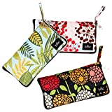 BMC Mixed Design Washable Foldable Wallet Style Nylon Reusable Grocery Bags Tote - (Nature's Beauty) Set of 3