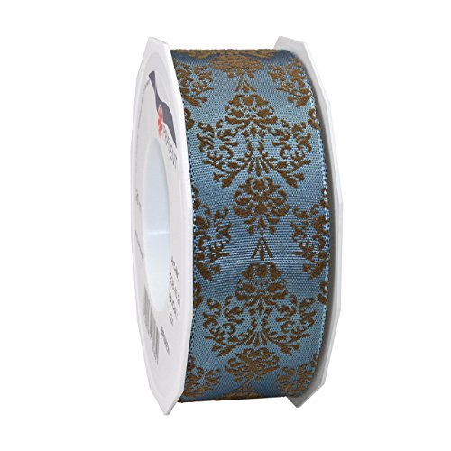 Morex Ribbon 23840/20-224 French Wired Acetate Baroque Ribbon, 1 1/2-Inch by 22-Yard, Williamsburg (Williamsburg Bouquet)