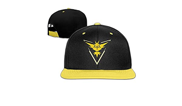 /Gorra de Hip Hop B/éisbol Tiene for Kids Yellow Hittings Kids Pokemon Go Team Instinct Yellow Zapdos Adjustable/