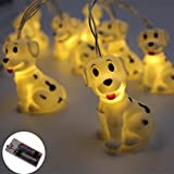 LED String Light Battery Operated 1.5M Animal light Animal Shape 10 Led Fairy Lights String Lights for Home Party, Garden and Kids Bedroom Living-room Dorm Halloween Christmasetc Uses (Dog)