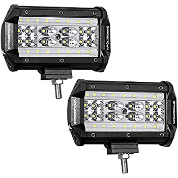 LED Pods, Offroad Town 5'' 168W QUAD Row LED Light Bar Spot Flood Combo Beam Off road Driving Fog lights Waterproof LED Cubes OSRAM Work Light for Truck Jeep Motorcycle Boat, 3 Year Warranty
