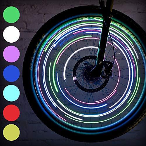LEBOLIKE LED Bike Spoke Lights for Wheel Decoration Safty Cool Night Riding - Bike Wheel Lights with Batteries Included