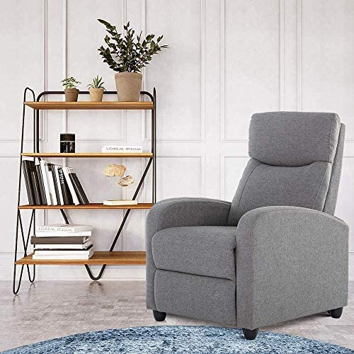 Recliner Chair Living Room Fabric Armchair