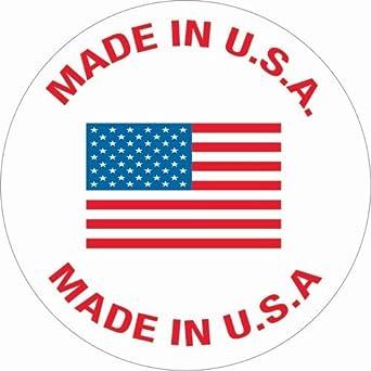 500 Per Roll Red//White//Blue 1 Circle Tape Logic USA301 Labels,Made in U.S.A.