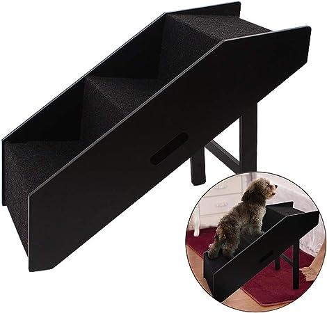 Escaleras de mascotas- Antideslizante para Mascotas Perro Gatos Rampa - Escaleras De Madera para Mascotas para Perros con Patas Cortas y Cuerpo Largo, Carga De 50 Kg (Size : High 50.8cm): Amazon.es: Hogar