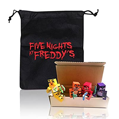 Five Nights At Freddy's Gift Bag & Boxed FNAF Mini Action Figure 8pcs/set from NEW